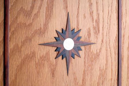 Compass rose onlay.