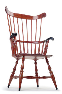 Traditional Windsor Chair in Exotic Bubinga and Ebony.