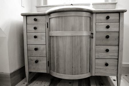 Radius Front Vanity - furniture grade.