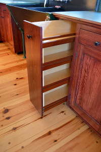 Vertical Pullouts make efficient use of all available space.