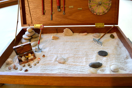 """Visiting children anticipate digging for the sunken treasure, and amazingly play quietly as adults visit. """"…..thank you for our visit, I like ur box, if u do not, I reely do."""" - J & B (ages 5 & 6)"""