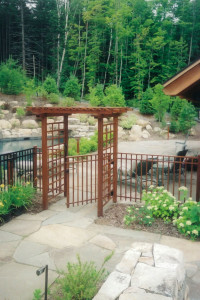 Gated Mahogany Arbor for Pool Area.