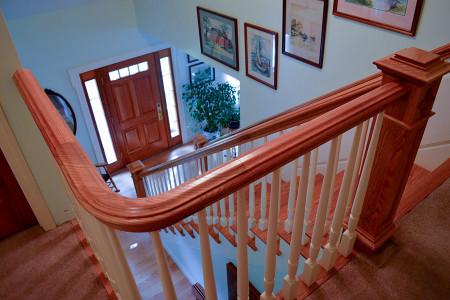 Custom residential stairways.