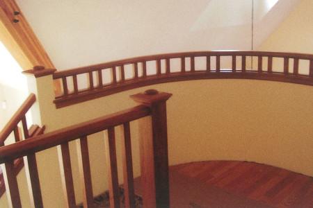 Radius railings.