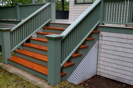 Oiled VG - Douglas Fir exterior stairs.